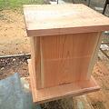 写真: ミツバチの巣箱