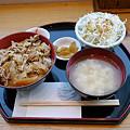 Photos: 黒豚生姜焼き丼定食。(650円)