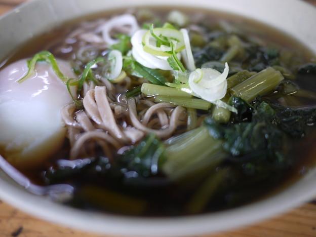 Photos: 松本駅の立ち食い「葉ワサビ蕎麦」
