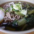 松本駅の立ち食い「葉ワサビ蕎麦」