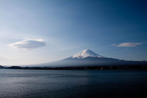 富士とつるし雲