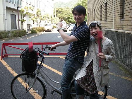 ホテル備え付けの自転車