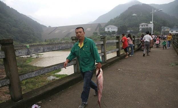 豪快な魚獲り&でかすぎる魚さん達(笑) (17)
