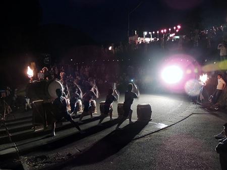 四谷の千枚田:陣太鼓の演奏