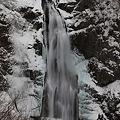 厳寒の秋保大滝