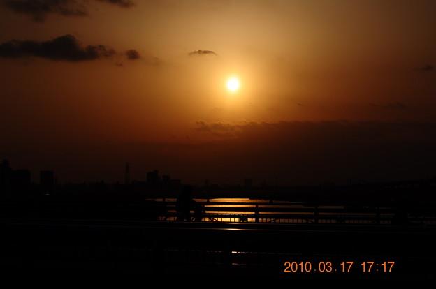 千住新橋のゆうやけDSC_4899