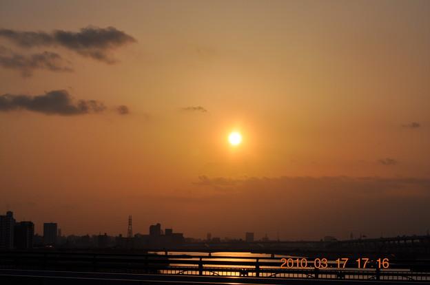 千住新橋のゆうやけDSC_4898