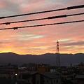 Photos: 朝焼けが綺麗なう