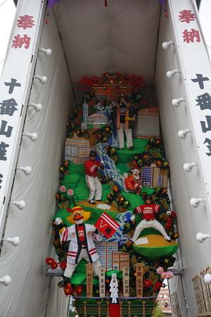 10 2014年 博多祇園山笠 福岡ドーム 飾り山笠 常勝玄界鷹 (6)