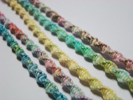 シンプルねじり編み