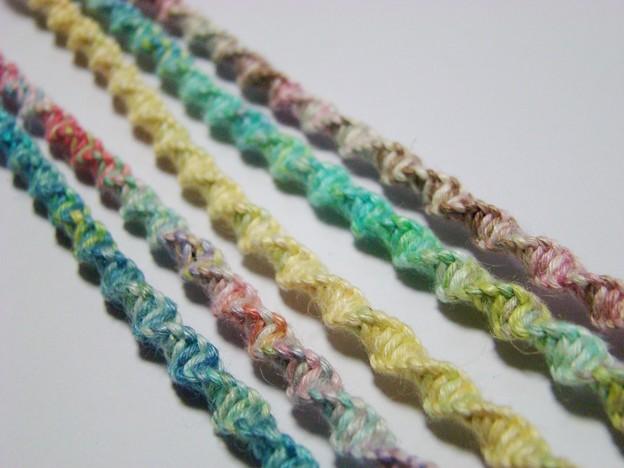 写真: シンプルねじり編み
