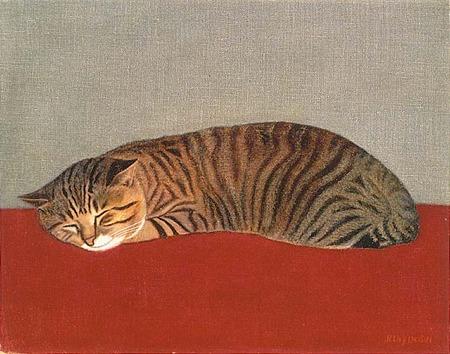 長谷川潾二郎,猫