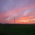 二焼け空・鉄塔のある風景