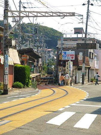 江ノ島→腰越の併用軌道区間29