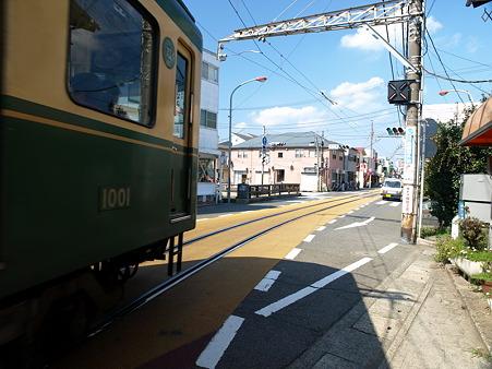 江ノ島→腰越の併用軌道区間36