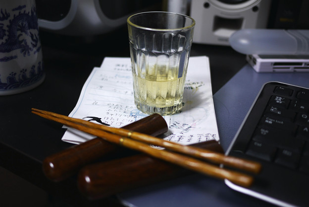 2010.06.19 玉蜀黍のお酒とマイ箸