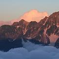 写真: 100722-43蝶ヶ岳登山・前穂高岳と雲