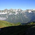 写真: 100722-67さようなら穂高連峰と槍ヶ岳