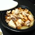 写真: いつぞやの夕食その3:鶏モモ肉と長ネギの中華風タジン