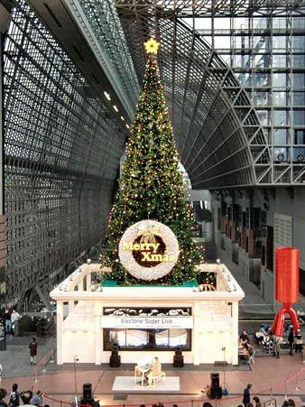 京都駅ビル クリスマスイルミネーション2010 点灯中 2010-221107-1