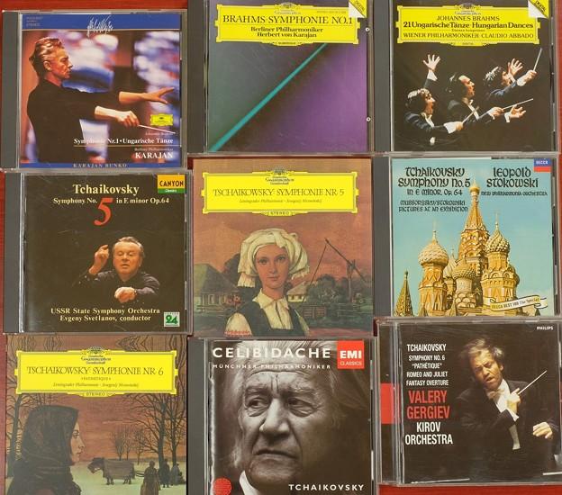 お気に入りの音楽CD、ブラームス、チャイコフスキー