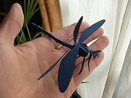 ハグロトンボ■切り折り紙