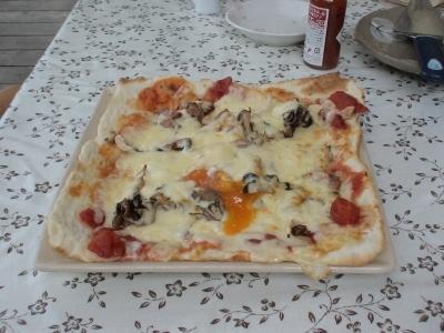 四角のピザ